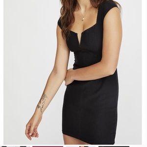 Lis Denim Bodycon V- Neck Dress
